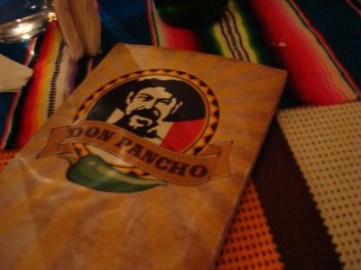 Cardápio Don Pancho.