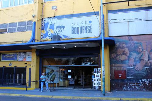 Entrada do museu do Boca Jrs.