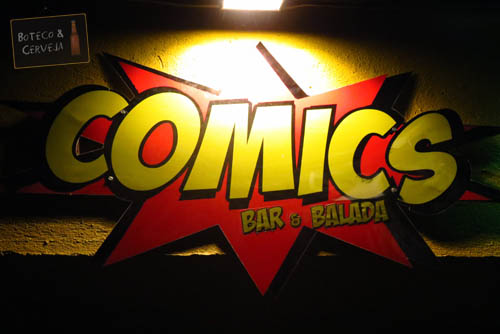Comics Bar e Balada.