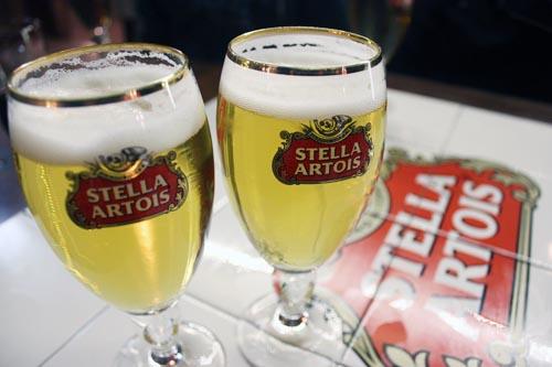 Chope Stella Artois.