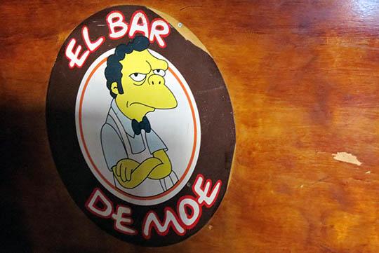El Bar de Moe.