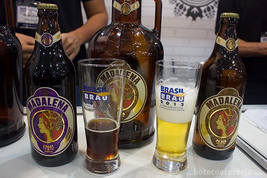 Cerveja Madalena Stout e Pilsen.