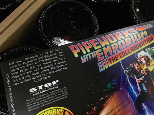 Back to the future beer